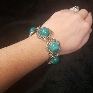Vintage Green Acrylic Bracelet
